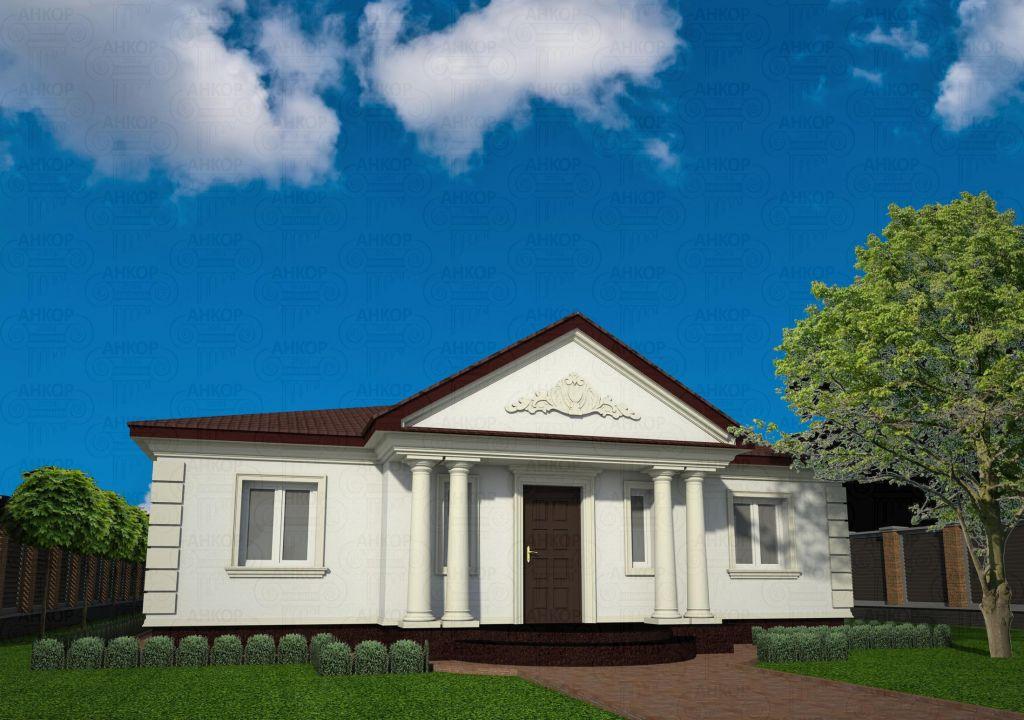 Conception de la façade d'une maison à un étage photo