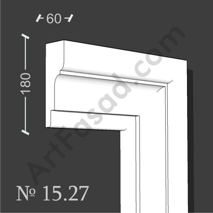 Молдинг наличник обрамление облицовка отделка окна снаружи № 1527