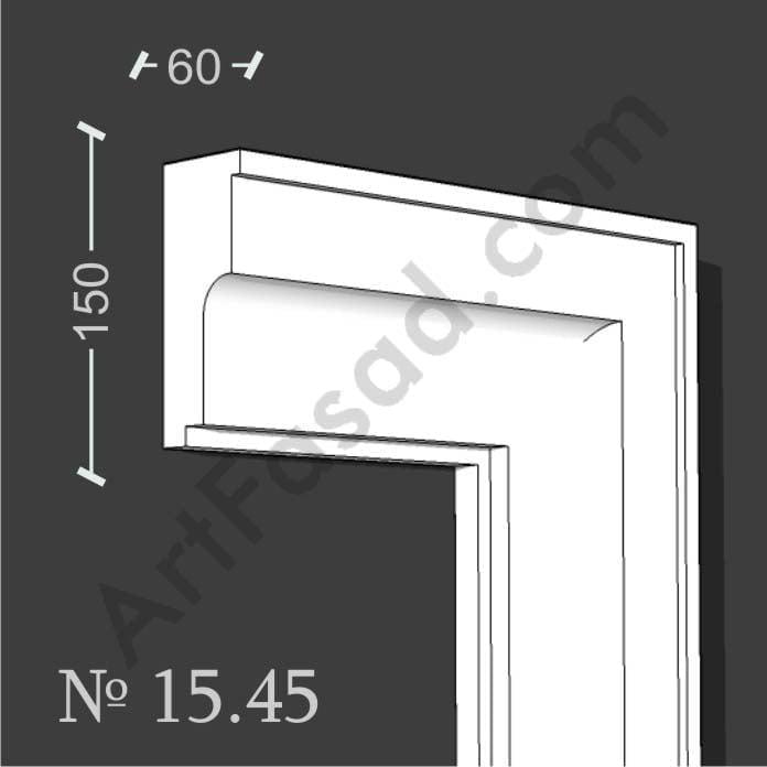 Молдинг наличник обрамление облицовка отделка окна снаружи № 1545