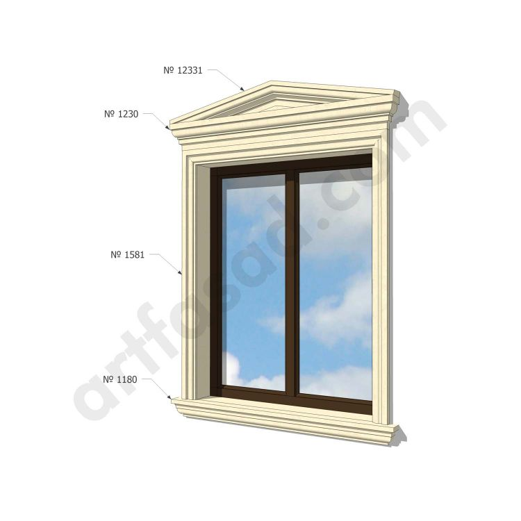 Modern exterior window trim