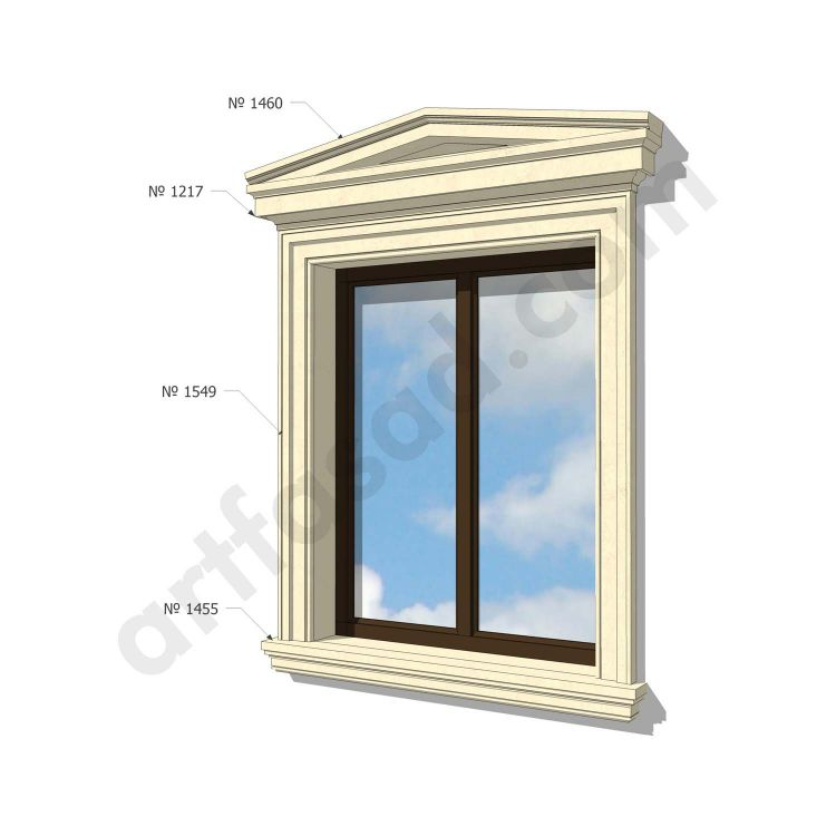 Pvc exterior window trim