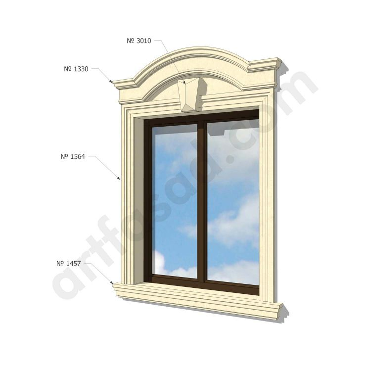 Exterior window trim moulding