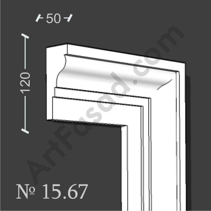 Молдинг наличник обрамление облицовка отделка окна снаружи № 1567