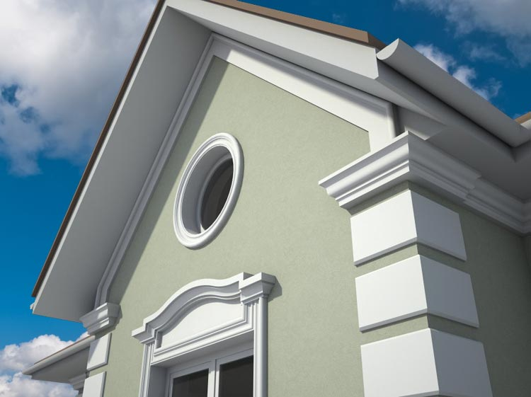Outside Window Trim Molding | House Exterior | Pictures, Photos, Images, Gallery, 3D, Visualization, Graphics