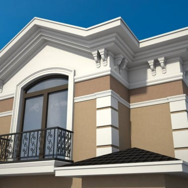 HouseWith Double Cornice Outside Design | Home Exterior