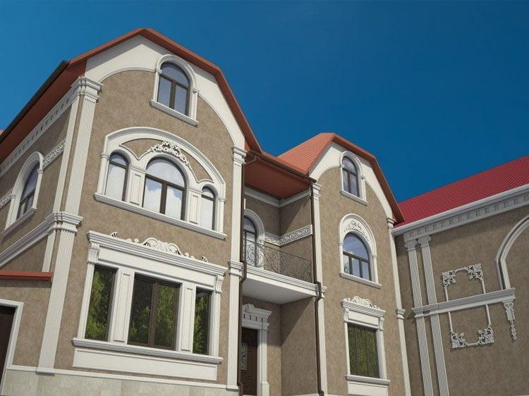 Красивые Фасады Частных Домов | Фото, фотогалерея, изображения, картинки, модели, модель, работы, работа | 3D визуализация, рендеринг, 3Ds MAX, Скетч Ап, SketchUp, V-Ray, Вирей