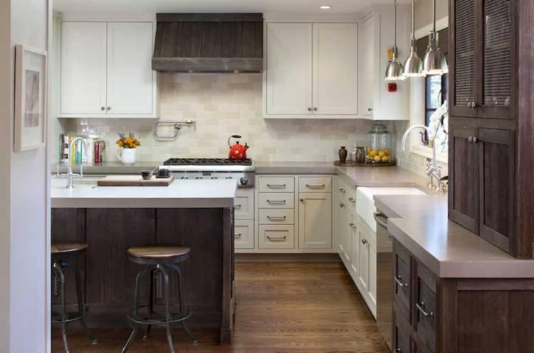 Кухня белый верх деревянный низ | Двухцветная Кухня: фото, примеры, дизайн