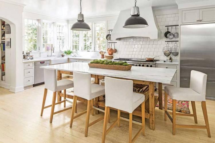 Сільська біла кухня | Біла Кухня: фото, дизайн, приклади, поєднання, глянцева, інтер'єр, шпалери, модна, сучасна