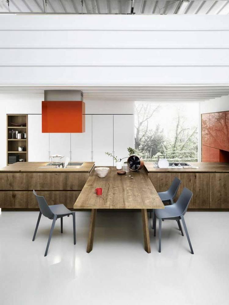 Кольорові акценти на кухні | Маленька біла кухня студія в стилі мінімалізм - хай тек, дизайн кухні в мінімалістичному стилі - фото приклади, опис