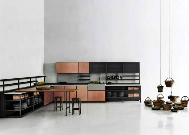 Чорні, мідні, цинкові, матові, металеві: Сучасні Кухонні Шафи: фото, дизайн, приклади