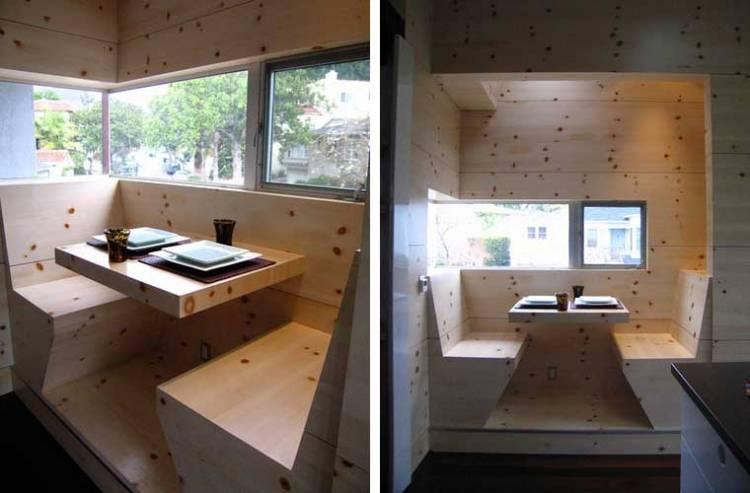 Кухонный уголок из сосны | Красивый, современный, для маленькой кухни, фото дизайн идеи в интерьере