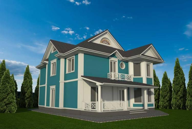 Бирюзовый цвет фасада дома: цвет фасада дома, цветовая гамма, палитра, сочетание, комбинация, фото подбор