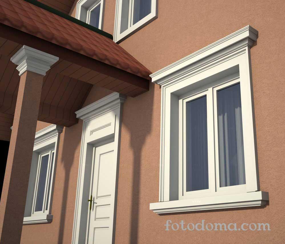 Одноэтажный дом с мансардой – Проекты фасадов Z500: фото дизайна