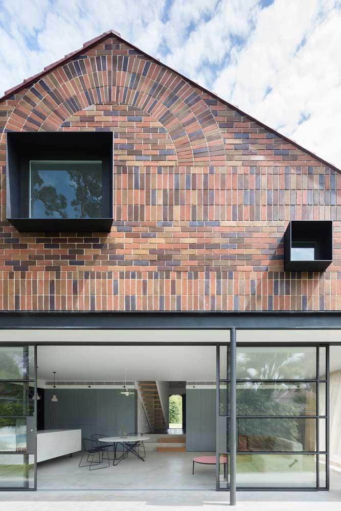 Fachadas de casas de ladrillo de un solo piso: opciones de diseño