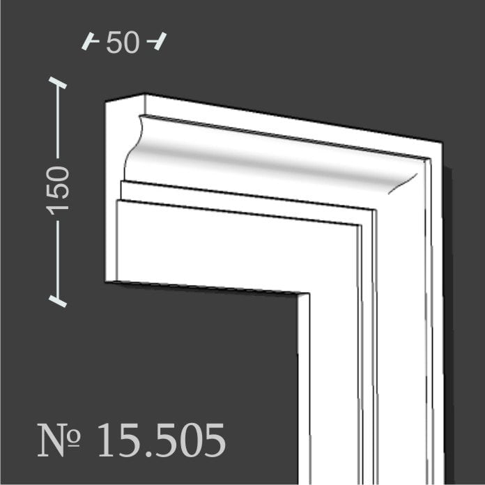 Molding clypeus framing lining finishing window outside No. 15505