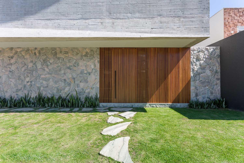 Color Gris para Casa Exterior de Moda de la Vivienda Brasileña