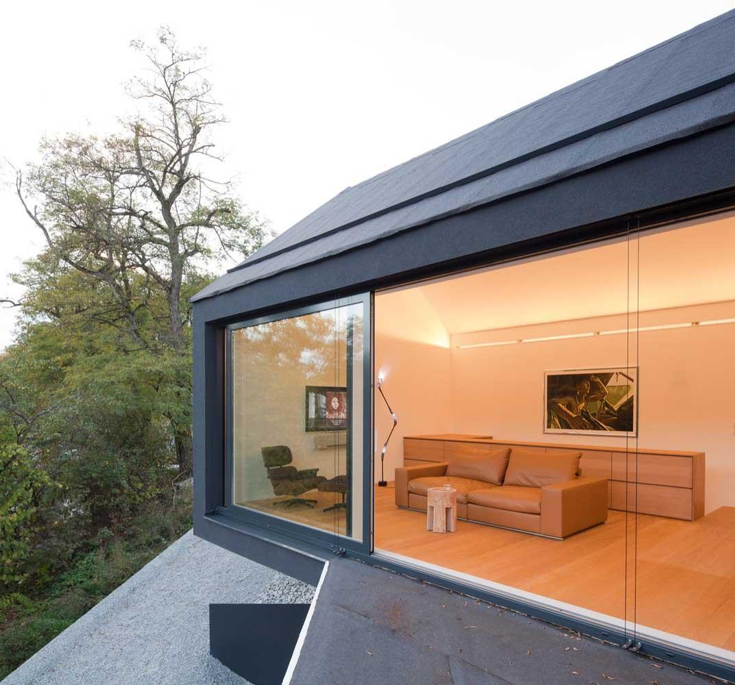 modern slope house