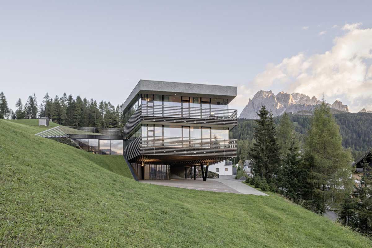 hillside stilt house