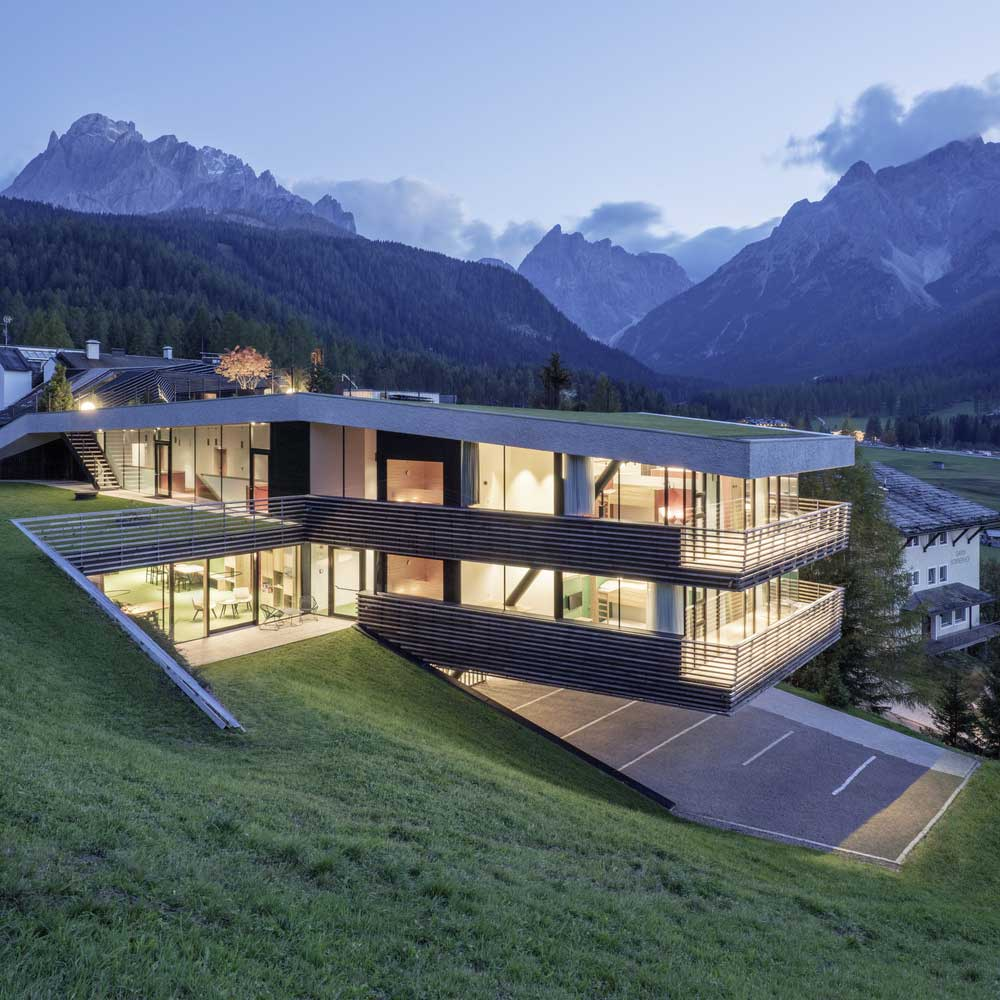 house on steep hill