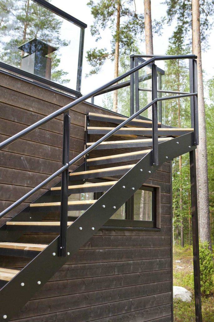 steel staircase design outdoor
