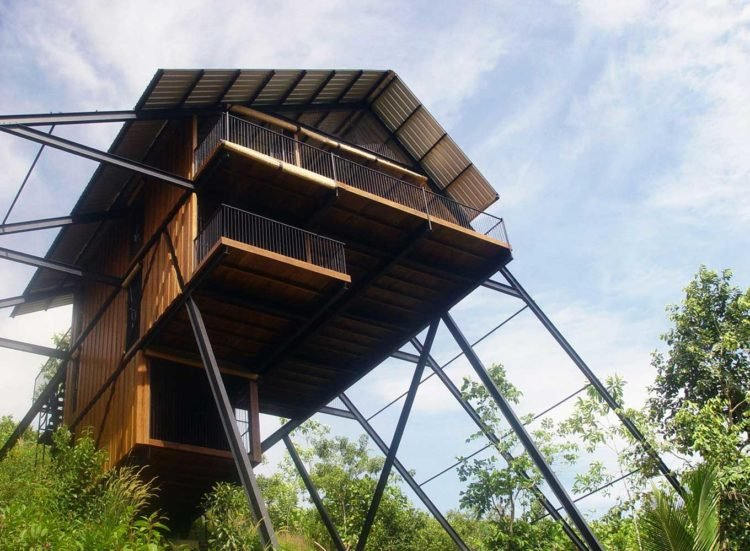 WOODEN HOUSE ON STILTS