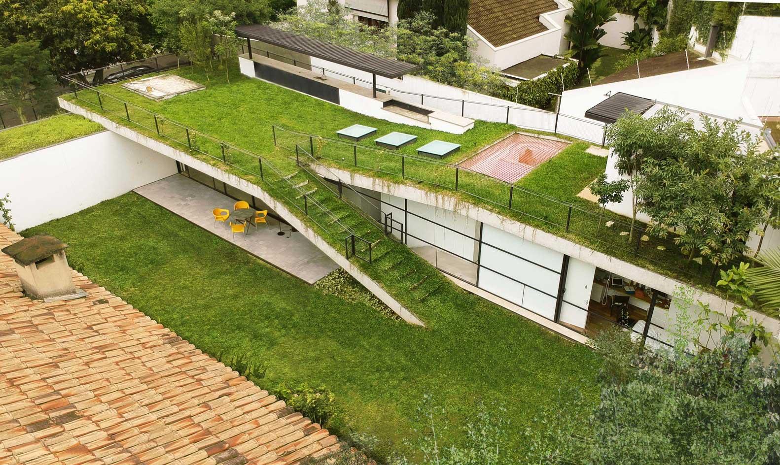 Газон на Крыше / Лучшие идеи дома с травой на крыше