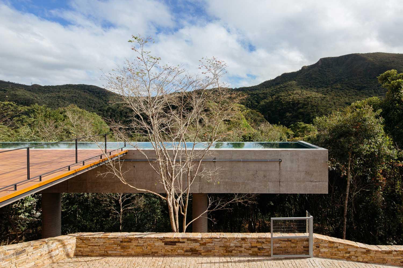 hillside modern house