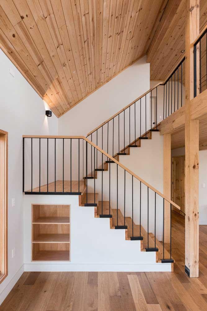Ordentlichkeit moderner Holztreppenentwürfe