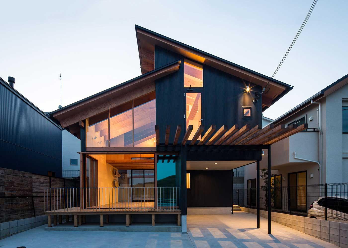 Какой Может Быть Двухэтажный Каркасный Дом / Японский Проект