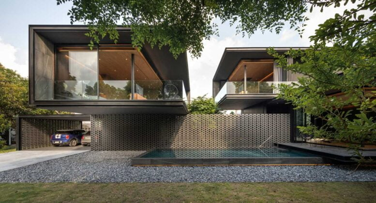 CHIC MONOLITHIC COTTAGE WITH OPEN LAYOUT HI-TECH STYLE
