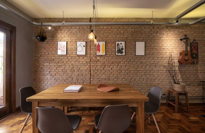 Old Brick Wall Interior with an Industrial Shade