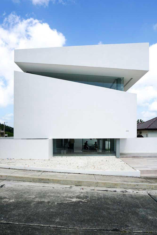 Minimalistisch huisontwerp met 2 verdiepingen: gevelfoto