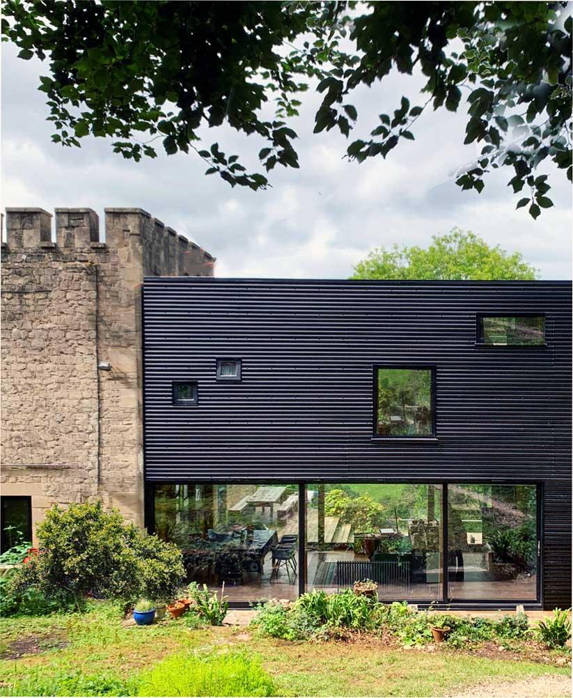 современный дизайн внешней стены