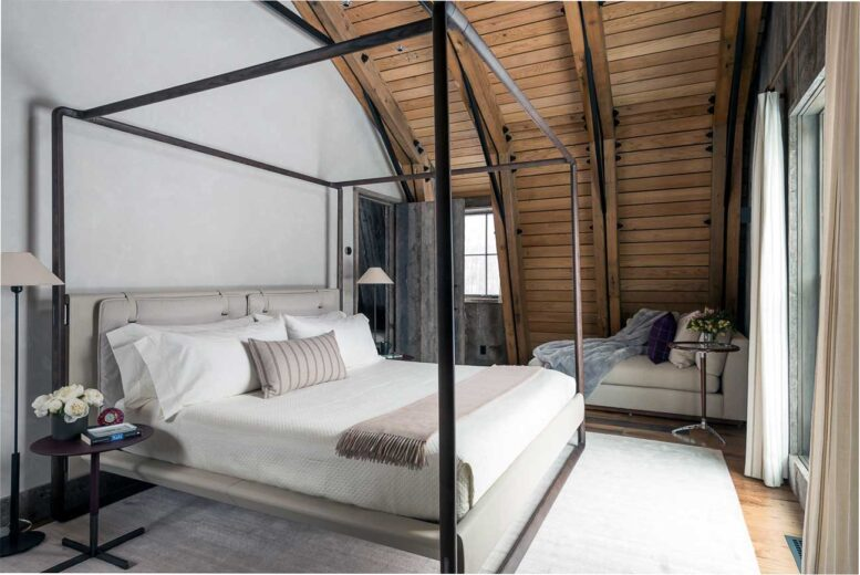 bedroom design after reconstruction of a small house