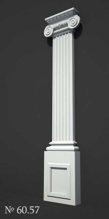 Pilaster an der Fassade des Hauses / Außenpilaster / beim Hersteller / kaufen / Bestpreis