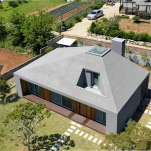 Ursprüngliches kleines Betonhausdesign