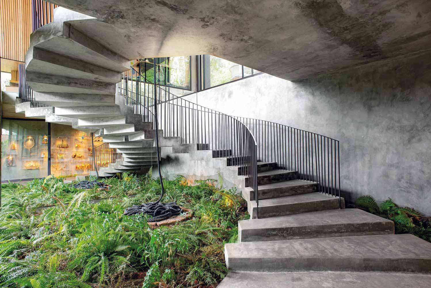 beautiful one-story reinforced concrete private house