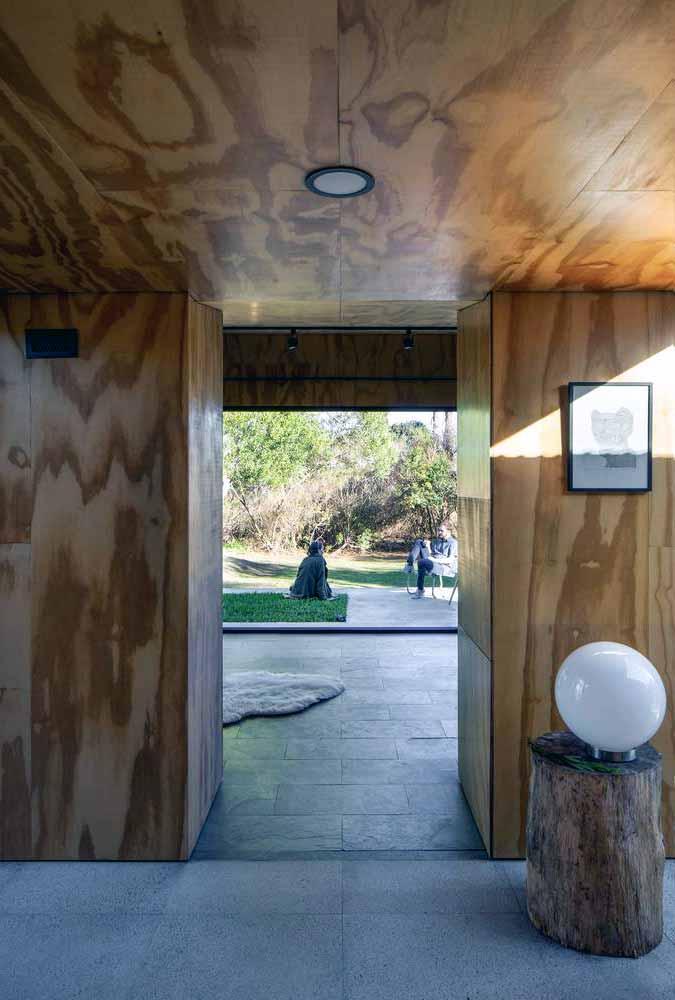 Sperrholz im Innenraum