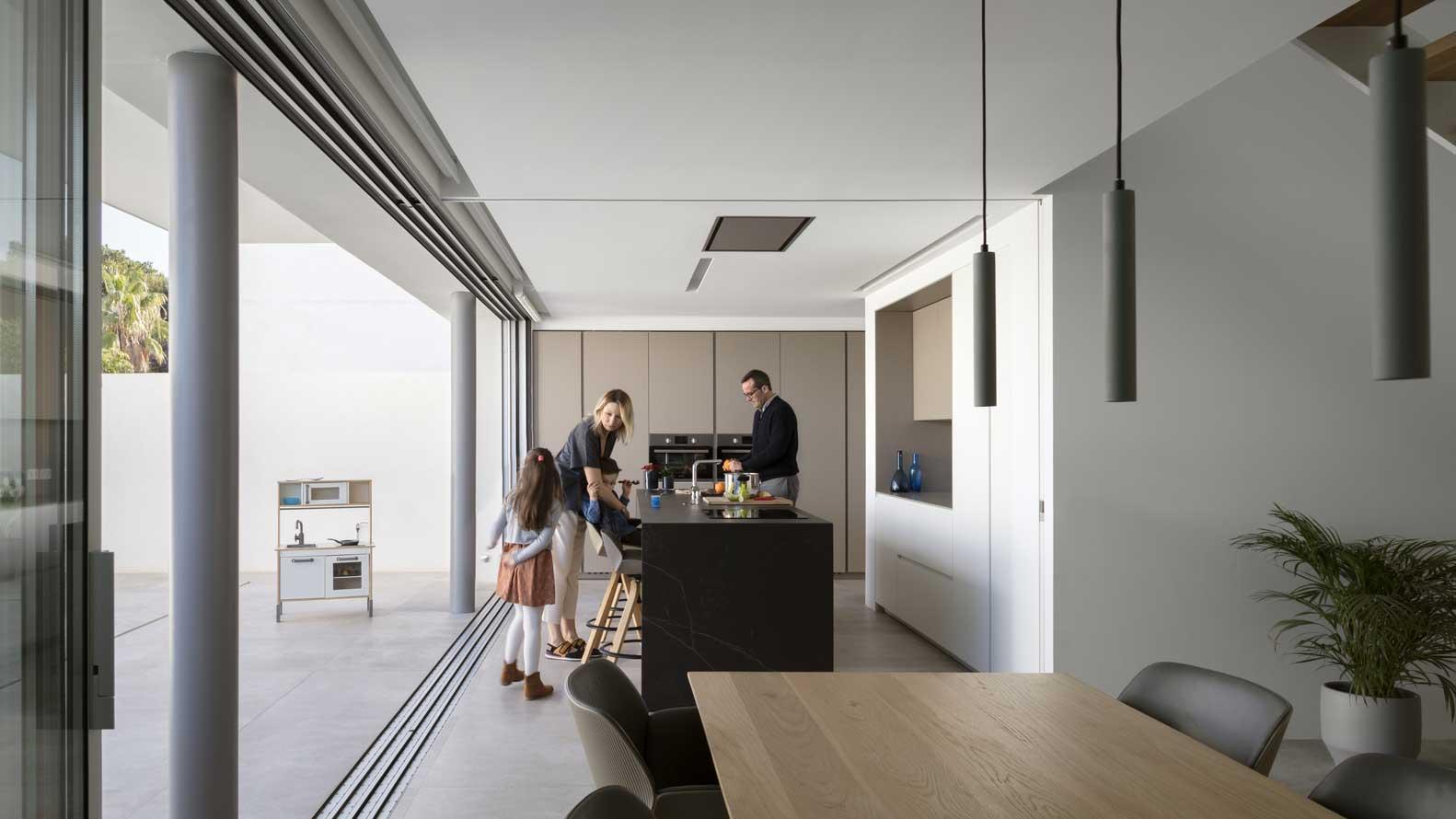 open plan kitchen diner living room